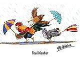 Carte de vœux Motif poulet volailles météo par Alex Underdown...