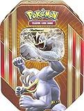 Pokemon 25831 - Tin 57 Machomei, orange, Deutsch