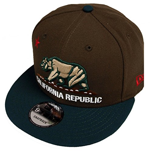New Era California Republic Walnut Dark Green Snapback Cap 9fifty 950 Limited Edition