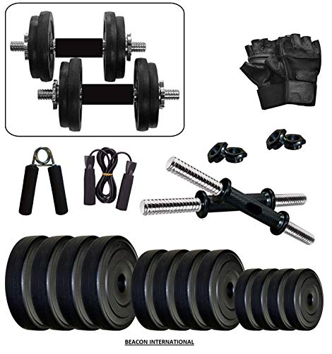 BEACON INTERNATIONAL Exercise Dumbbell Set 36 KG with Accessories