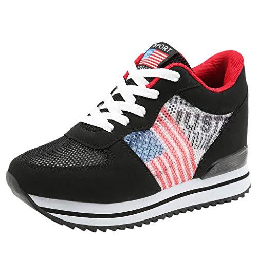 e94989535 ZARLLE Gran promoción!Zapatillas Deportivos Mujer Hombers Cordones Running  Zapatos De Plataforma Fondo Grueso Zapatillas De Deporte Transpirables  Casual ...
