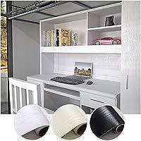 KINLO Pegatina de Mueble de Madera Ropa 0,61 * 5M Autoadhesivo Papel Pintado Impermeable para Muebles/Cocina/Baño Color Blanco