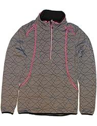 F. lli Campagnolo–Chaqueta de esquí de fondo Mujer Sudadera Forro Polar para hombre gris/lila, color GRAFFITE-NERO, tamaño 44 [DE 42]