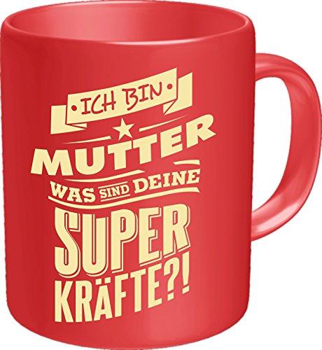 Original RAHMENLOS® Kaffeebecher für die Mama: Ich bin Mutter, was sind Deine Superkräfte? Im Geschenkkarton 2620
