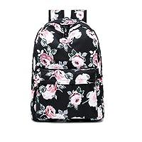 Acmebon Waterproof Women Backpack Purse Floral Print Cute School Backpack for Girl
