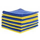#3: Ultra Soft Premium Microfiber Cloth - European Standard - Car Cleaning Cloth - Designed for Clean dust - Polishing Car - Bike - Scooter - Glass Kit - Window Glasses - Laptops - t.v - Kitchen Accessories - Highly Absorbent - Anti Scratch - Lint Free - Streak Free - Reusable Hundreds of Times. Limited Version 340GSM ( Set of 2 Pieces in a Pack).