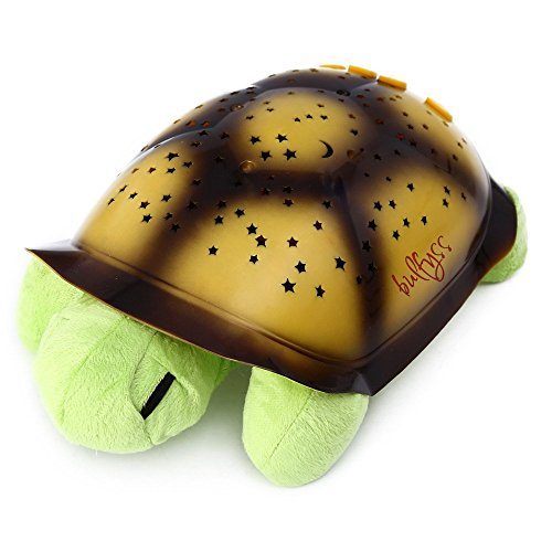 Bulfyss Turtle Night Sky Constellations Projector Lamp, Plush Toy - Put your Little Ones to Sleep with Lights and Music