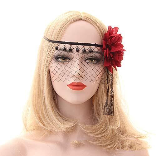 YWJ Maskerade Maske Halbgesicht Venezianische Maske Cosplay Maske für Halloween Party - Erwachsenen Kostüm - Unisex Einheitsgröße,7 (Menschen Halloween-kostüm Sieben)