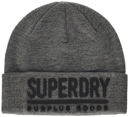 Superdry Herren Strickmütze M90005DP, Grau (Grey Black), (Herstellergröße: OS)