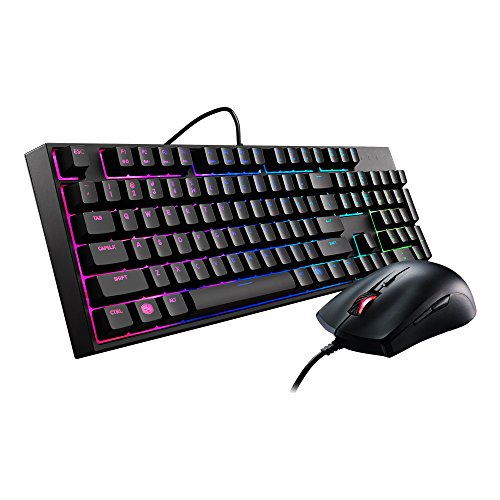 Cooler Master Devastator II LED Gaming Keyboard and Mouse Combo Bundle SGB-3031-KKMF1-US RGB  available at amazon for Rs.9513
