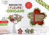 Bouquet de fleurs origamis : Avec 51 feuilles de papier origami et 10 tiges