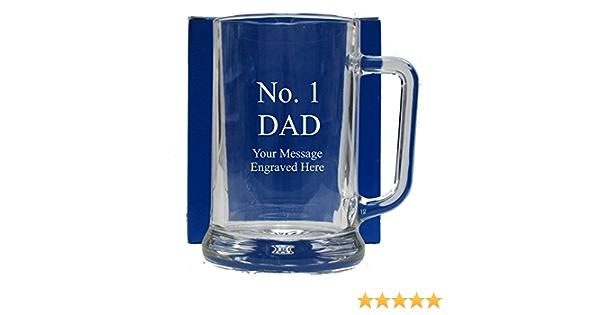 No 1 DAD GLASS TANKARD GT105