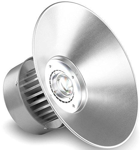 Deckenmontage-wärme-lampe (Showlite HBL-50 COB LED High Bay Hallenstrahler 50 W (LED Fluter für Industrie- und Hallenbeleuchtung, 4500lm, Abstrahlwinkel 130°, 30000h Lebensdauer, Alu, Deckenmontage, energieeffizient) silber)