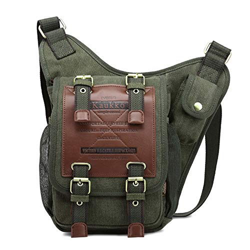Baibang Gut Gemacht Outdoor-Sport Ritter Tasche Europa Und Den Vereinigten Staaten Schulter Messenger Bag Casual Canvas Tasche Retro-Mode Messenger Bag Sportrucksack (Farbe : Green) - Europa-messenger Bag