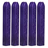 Voberry 5Pcs Vintage Manuscript Sealing Seal Wax Sticks for Postage Letter Purple