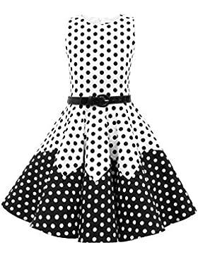 BlackButterfly Kinder 'Amy' Vintage Polka-Dots Kleid im 50er-Jahre-Stil