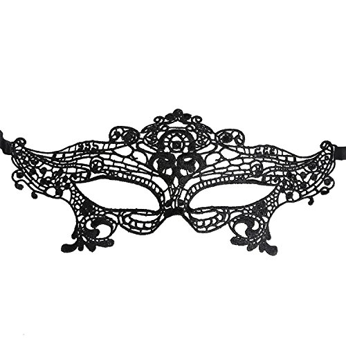 Yinglite 3PCS Damen Sexy Augen Maske Schlafmaske Spitze Venezianische Maske Masquerade Ball Ball Halloween-Kostüm Kopf Sets Fancy Dress Dekorationen für Cosplay Party (3PCS Queen )