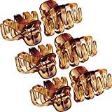 24 Pack 3 cm Mini Grip Octopus Clip Spider Jaw Hair Claw Clips (Marrone)