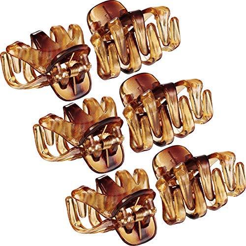 24 Packung 3 cm Mini Grip Octopus Clip Spinne Kiefer Haar Klaue Clips (Braun) (Retro Snap Vintage)