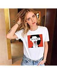 Camisetas Casuales de Verano para Mujeres, Camiseta de Manga Corta Suelta, Cuello Redondo, Top de Camiseta con Estampado Gráfico Simple, Patrón Personalizable, Good dress, Blanco, s