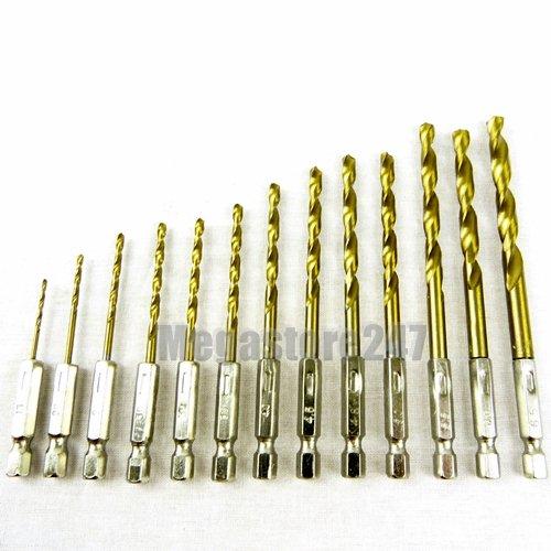 blackspur-bb-db143-set-di-punte-esagonali-per-trapano-con-rivestimento-in-titanio