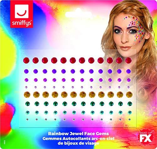 Fun Haustier Kostüm World - Smiffys 49012 Schmucksteine, Regenbogen-Optik, für Damen, mehrfarbig
