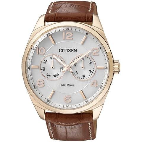 Citizen New York Multieye AO9024-16A - Orologio da polso da uomo, cinturino in pelle colore marrone
