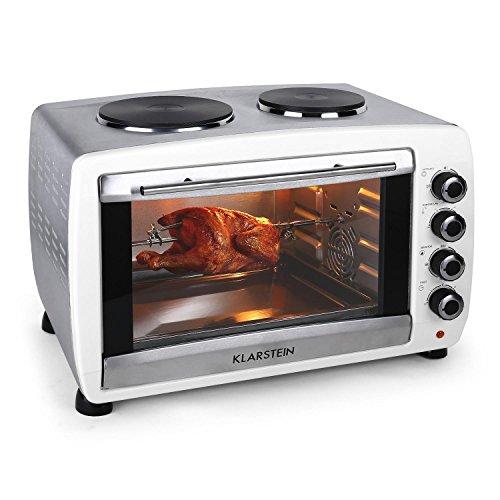 Klarstein Omnichef horno-grill eléctrico mini con placas de cocción