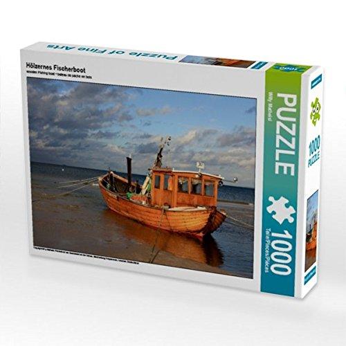 Preisvergleich Produktbild Hölzernes Fischerboot 1000 Teile Puzzle quer: Fischerboot am Sandstrand an der Ostsee, Mecklenburg Vorpommern, Usedom, Deutschland (CALVENDO Natur)