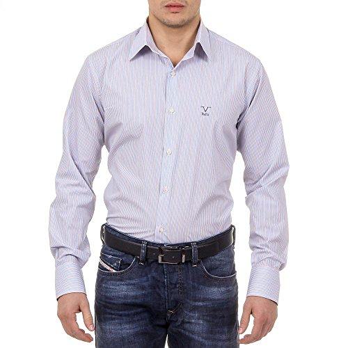 Versace 19.69 Abbigliamento Sportivo Srl Milano Italia Mens Classic Neck Shirt 377 ART. 522 Striped