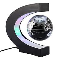 """Diametro globo: 85 mm Materiale: plastica ABS, olio di gomma rivestito e metallo basamento A forma di C dimensione di base: 173 x 180 mm / 6,81"""" x 7,09"""" Potenza di uscita di 12 V, 250 mA Mondiale della parete dell'adattatore da 110V a 240V, C..."""