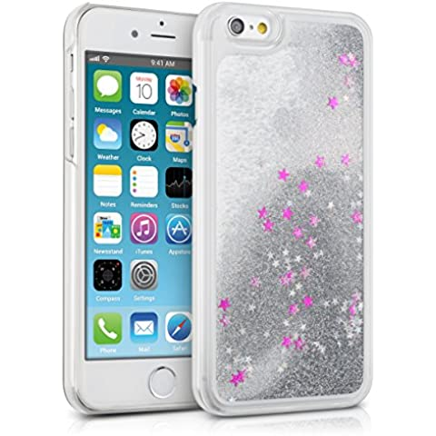 kwmobile Funda con líquido y brillantina para Apple iPhone 6 / 6S – Carcasa con efecto
