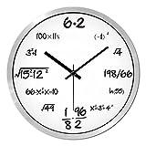 LINGZHIGAN Orologio da parete al quarzo muto, moderno, minimalista, con formula matematica ( Colore : Silver , dimensioni : 30.5cm (12 inches) )