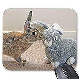 Gaming Mauspad mousemat Schöne Kaninchen Mousepad Serie Die Echte Kaninchen Mauspad Bunny Rabbit Mouse Pad Rechteck Mousepads