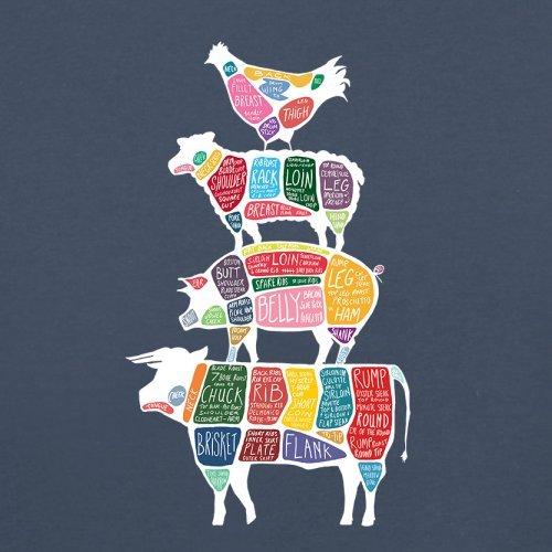 Meat Stack Diagram - Herren T-Shirt - 13 Farben Navy