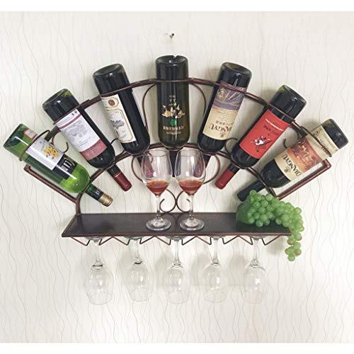 QYSZYG Weinregal Wand hängen Weinregal einfache Moderne hängende Wand hängen Wein Kabinett Wein Glas Rack Wand hängen Fächerförmigen Wand kreative Ornamente Weinregal (Farbe : B) -