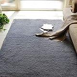 YOOMAT Yoga Mat Kids Room Play Cover Carpet 40cmx60cm Bedroom Sofa Mat Floor Door Entrance Carpet for Living Room Anti-Slip Rugs,Grey