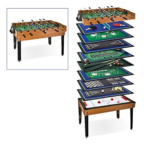 DEMA Tischfußball Multigame 15 in 1, braun
