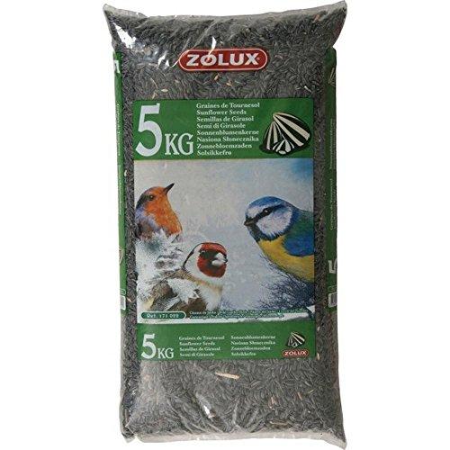 Graines de tournesol sac de 5 kg pour oiseaux de la nature/ZOLUX