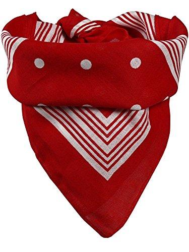 100 Kostüm Coole - Harrys-Collection Bandana mit Punkten in reiner Baumwolle!, Farben:rot
