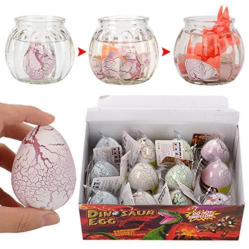 Godmoy 12 Stücke Dinosaurier Ostereier Spielzeug Geschenke für Kinder Jungen Mädchen Spiel Ostern Party Favors