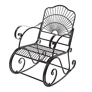 Cocoarm Schaukelstuhl Eisen Stuhl Relaxstuhl Metallstuhl Gartenstuhl Eisenstuhl Schaukelstuhl Schwingsessel f¨¹r Zuhause…