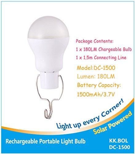 KK. Bol lampe portable ampoule LED Panneau Alimenté par batterie lumières LED Lampe pour maison lumière lumière urgence Intérieur Extérieur randonnée Tente de camping Nuit lampe de travail