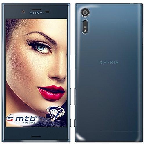 mtb more energy® Funda Clear & Slim para Sony Xperia XZ (F8331) / Dual (F8332) - 5.2'' | transparente | flexible | delgada | Gel TPU Silicona Carcasa Suave Cascara