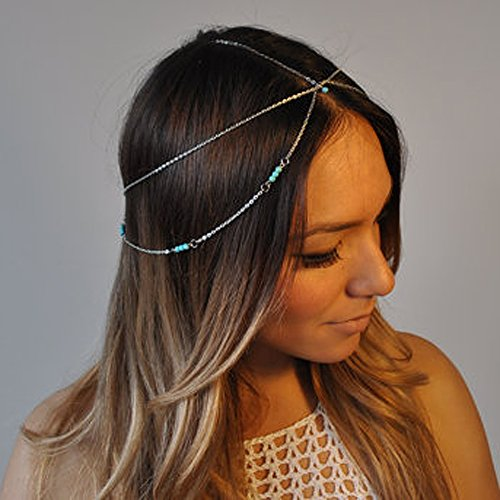 Yean Kopf Kette Haar Zubehör Bohemian-Stil für Frauen und Mädchen
