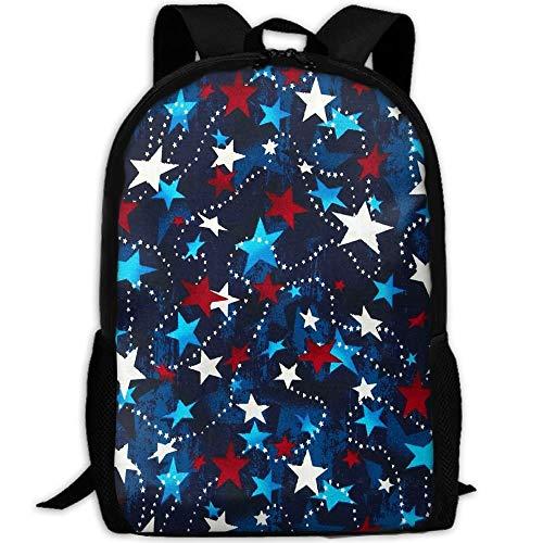 Made In The USA Sterne Rot Weiß Blau Laptop-Rucksack, Reise-Computer-Tasche für Frauen und Männer, Diebstahlsichere wasserdichte College School Bookbag für Mädchen und Jungen