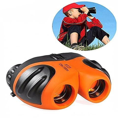 DMbaby DL05 8 x 21 Mini Jumelles Haute Herformance pour Enfants Orange - Meilleurs Cadeaux