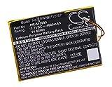 vhbw Li-ION Batterie 4000mAh (3.7V) pour Tablette Tablet Archos Arnova 7C, 7C G2