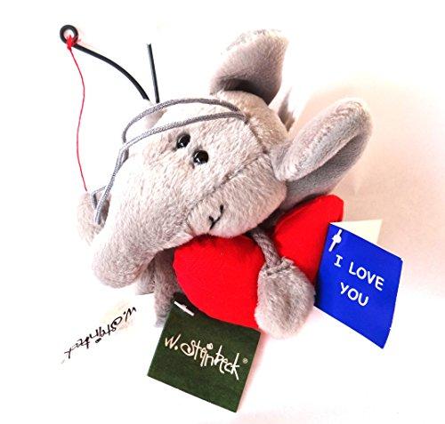 STEINBECK Plüsch Anhänger Elefant Amor mit Pfeil und Bogen , Flügel und Herz