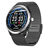 myonly Salute Fitness N58 Smart Watch con Cuore Rat ECG + PPG ECG HRV relazione Lood Pressione Test IP67 Intelligente Braccialetto Nero